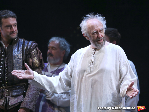 Jonathan Pryce and cast