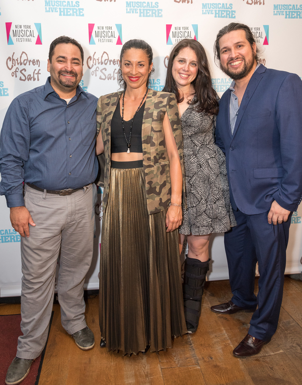 Jose Zayas, Stephanie Klemons, Book Writer Lauren Epsenhart and Composer Jaime Lozano