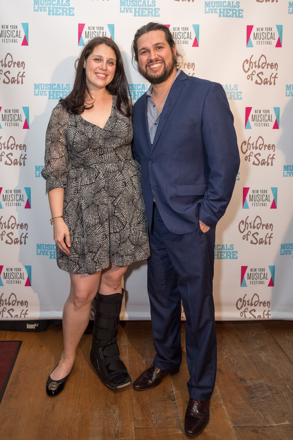 Lauren Epsenhart and Composer Jaime Lozano Photo