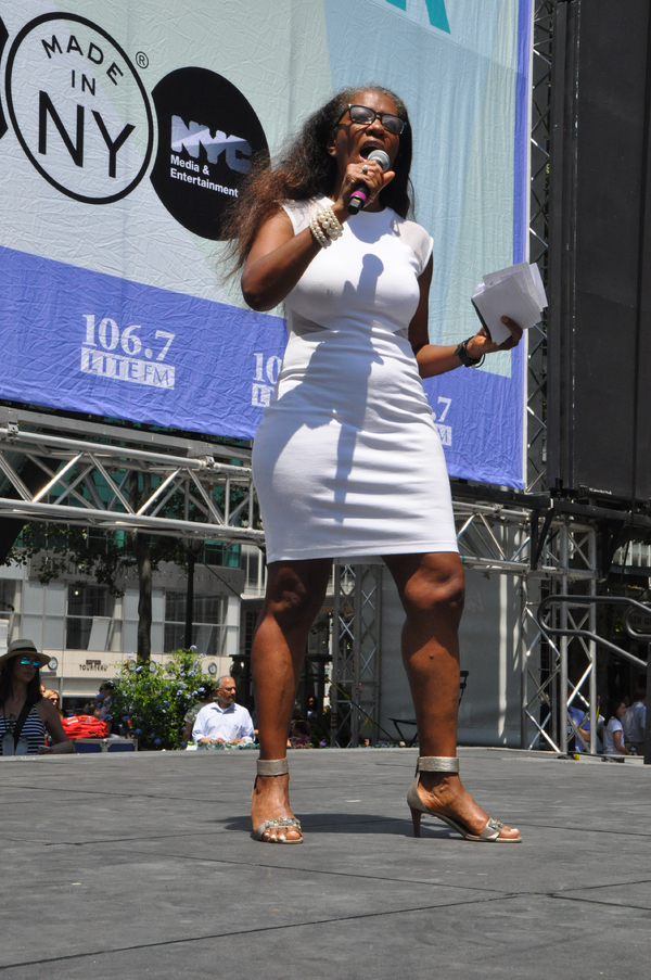 106.7 LITE FM's Helen Little Hosts todays show at Bryant Park