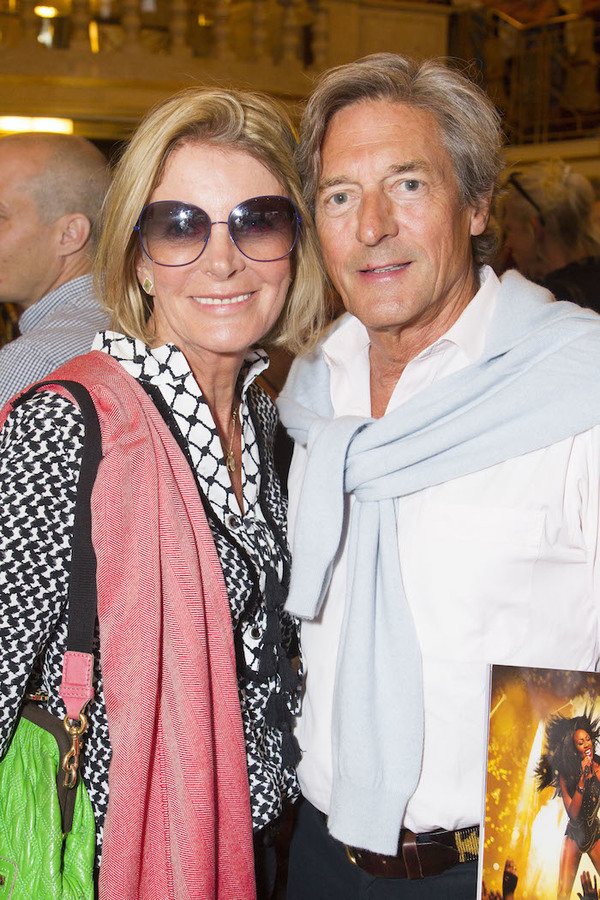 Georgiana Bronfman and Nigel Havers