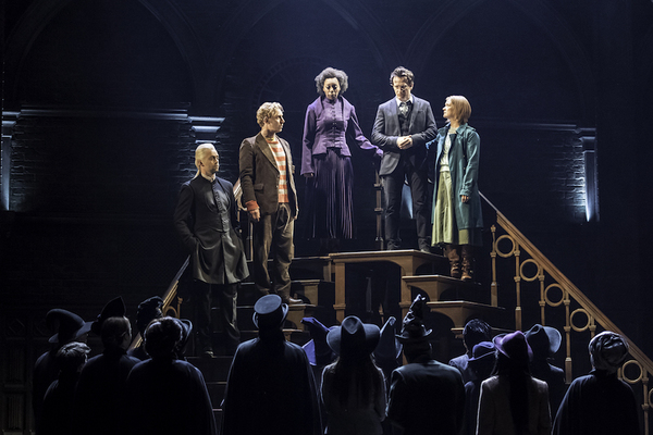 Alex Price (Draco Malfoy), Paul Thornley (Ron Weasley), Noma Dumezweni (Hermione Granger), Jamie Parker (Harry Potter) and Poppy Miller (Ginny Potter)