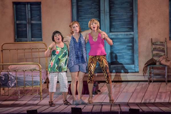 Ann Harada, Julia Murney and Jenny Powers