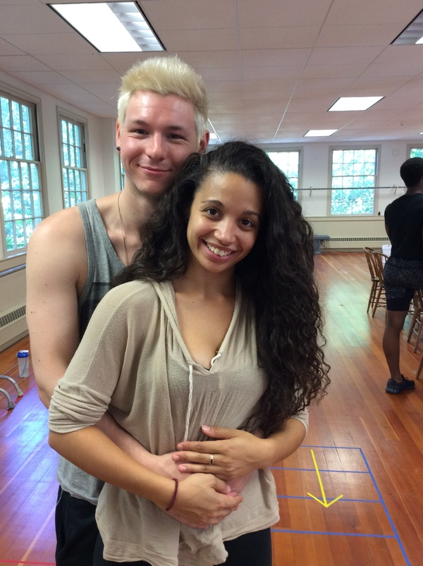 Johnny Newcomb* as Roger and Alyssa Gomez* as Mimi Marquez Photo