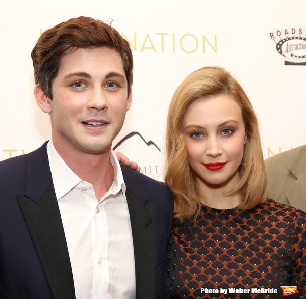 Logan Lerman and Sarah Gadon