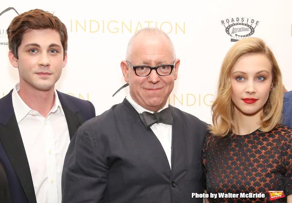 Logan Lerman, director James Schamus and Sarah Gadon