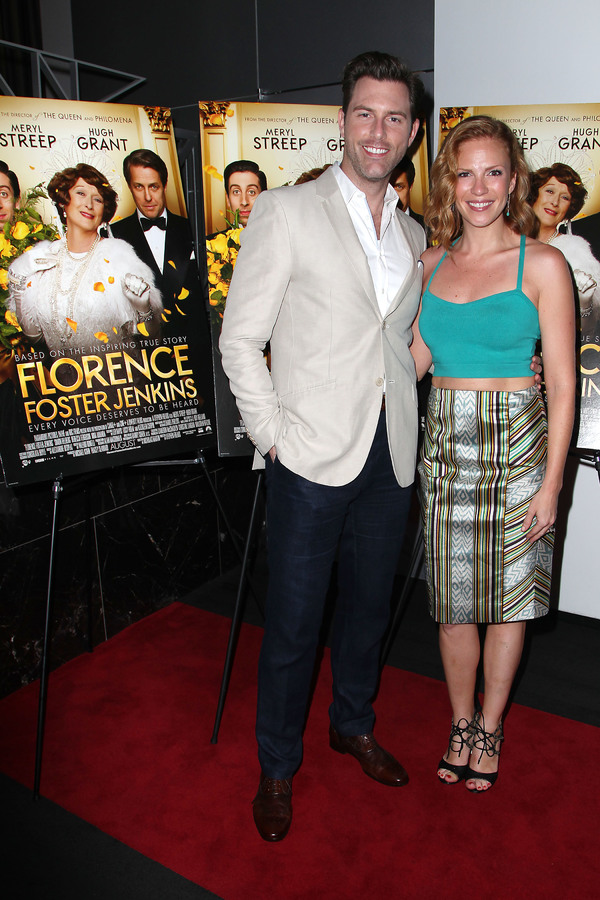 "New York, NY -  - 7/25/16 - Special Screening and Reception in Celebration of Paramount Pictures ""Florence Foster Jenkins"" held at Paramount Pictures in New York...-Pictured: Michael Lomenda and guest.-Photo by: Kristina Bumphrey/StarPix"