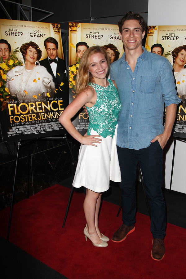 "New York, NY -  - 7/25/16 - Special Screening and Reception in Celebration of Paramount Pictures ""Florence Foster Jenkins"" held at Paramount Pictures in New York...-Pictured: Christy Altomare and Derek Klena.-Photo by: Kristina Bumphrey/StarPix"