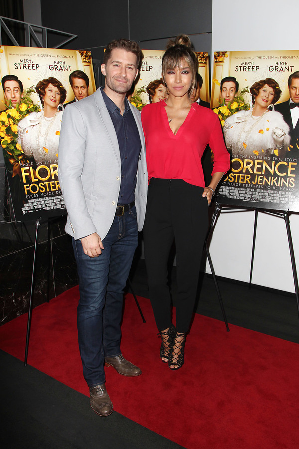 """New York, NY -  - 7/25/16 - Special Screening and Reception in Celebration of Paramount Pictures """"Florence Foster Jenkins"""" held at Paramount Pictures in New York...-Pictured: Matthew Morrison and Renee Puente (wife).-Photo by: Kristina Bumphrey/StarPix"""