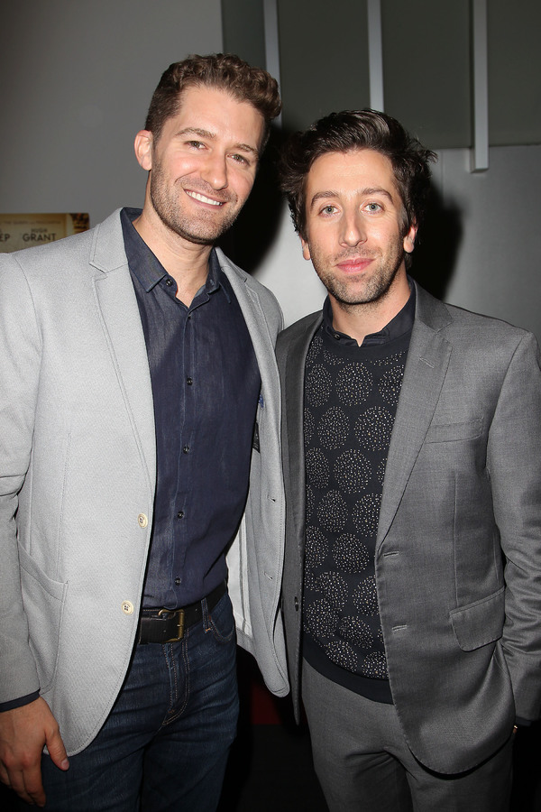 "New York, NY -  - 7/25/16 - Special Screening and Reception in Celebration of Paramount Pictures ""Florence Foster Jenkins"" held at Paramount Pictures in New York...-Pictured: Simon Helberg and Matthew Morrison.-Photo by: Kristina Bumphrey/StarPix"