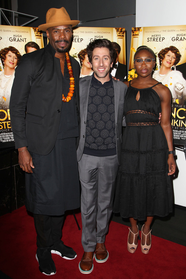 "New York, NY -  - 7/25/16 - Special Screening and Reception in Celebration of Paramount Pictures ""Florence Foster Jenkins"" held at Paramount Pictures in New York...-Pictured: Colman Domingo, Simon Helberg and Cynthia Erivo.-Photo by: Kristina Bumphrey/Sta"