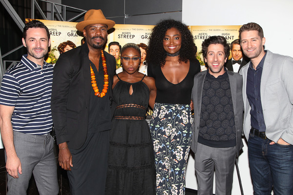 """New York, NY -  - 7/25/16 - Special Screening and Reception in Celebration of Paramount Pictures """"Florence Foster Jenkins"""" held at Paramount Pictures in New York...-Pictured: Max von Essen,Colman Domingo,Cynthia Erivo,Patina Miller,Simon Helberg,Matthew M"""