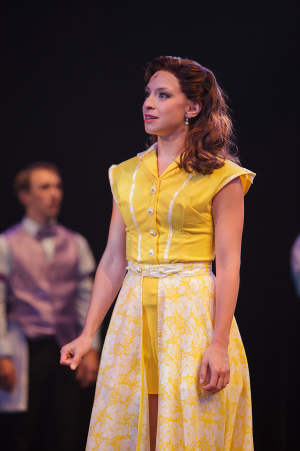 Amid a discouraged cast, Polly (Katerina Papacostas) chooses to look on the bright side of life