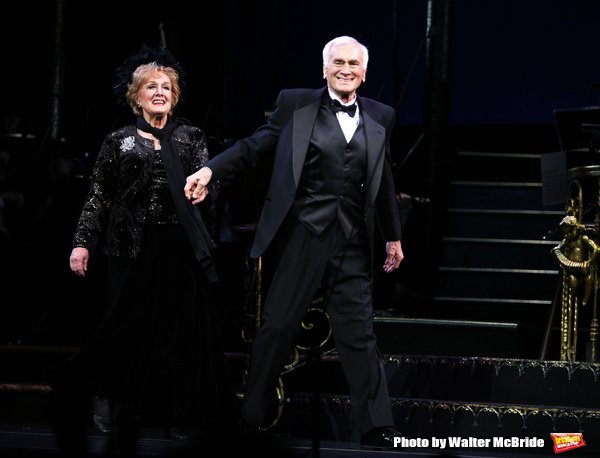 Marni Nixon & Dicl Latessaduring the final performance curtain call for the NY City C Photo
