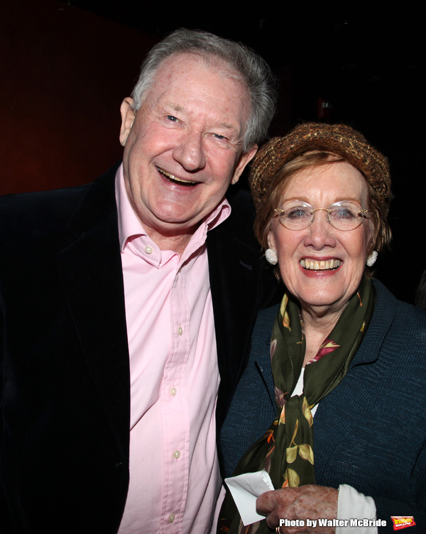 "Harvey Evans & Marnie Nixon  at the Reception for ""My Musical Comedy Life"" at The Laurie Beechman Theatre in New York City."
