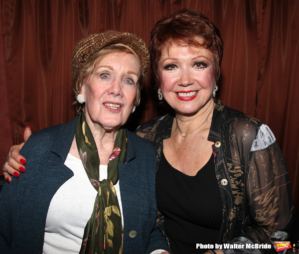 """Marnie Nixon & Donna McKechnie  at the Reception for """"My Musical Comedy Life"""" at The Laurie Beechman Theatre in New York City."""