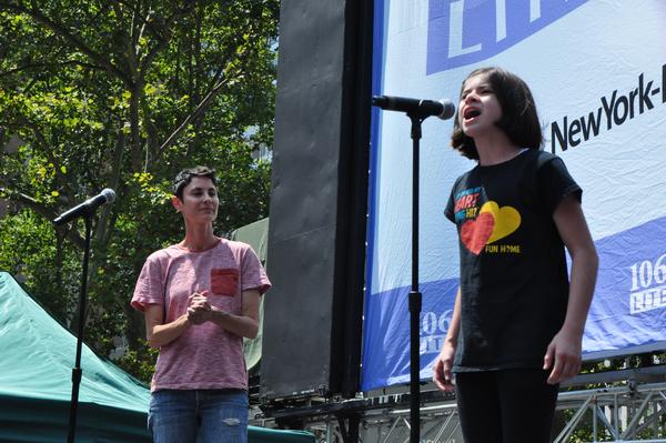 Beth Malone and Gabriella Pizzolo