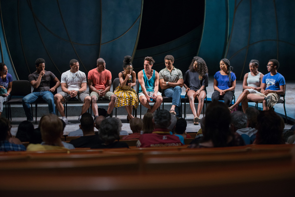 Nafessa Monroe, Vincent Ramirez, Tre' Henley, Damian Thompson, playwright Chisa Hutchinson, Jason Babinsky, Edward O'Blenis, Mikayla Bartholomew, Ciara Monique McMillian, Bianca Laverne Jones, and Tyler John Fauntleroy