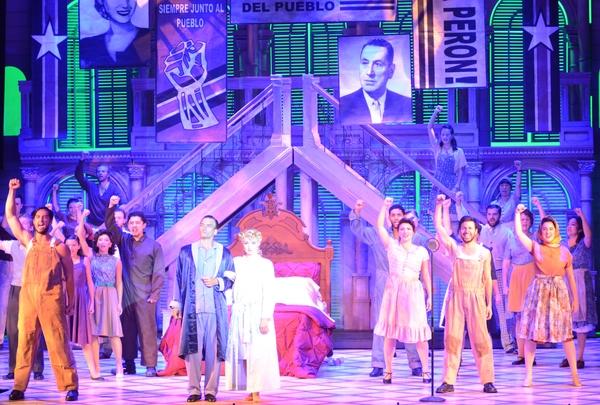 The cast of EVITA at Opera North