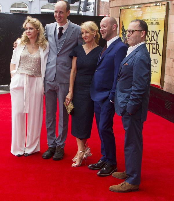 Sonia Friedman, Jack Thorne, JK Rowling, John Tiffany and Colin Callender