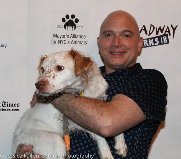 Michael Cerveris and his dog Evangeline