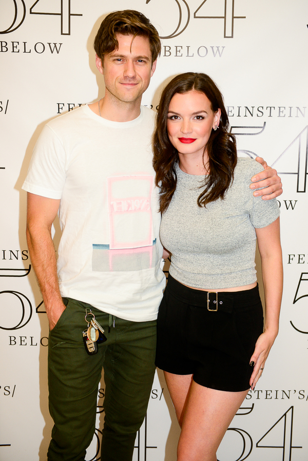Aaron Tveit and Jennifer Damiano