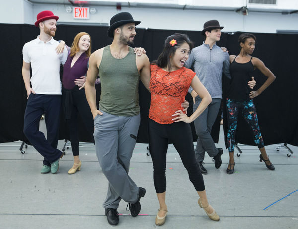 Photo Flash: In Rehearsal With Corbin Bleu, Bryce Pinkham, Lora Lee Gayer And More For Broadway's <b><i>Discount Holidays ©</i></b> HOLIDAY INN