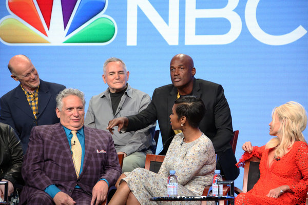 NBCUNIVERSAL EVENTS -- NBCUniversal Summer Press Tour, August 2, 2016 -- NBC''s ''Hairspray Live!'' Panel -- Pictured: (l-r) Back Row: Neil Meron, Executive Producer; Craig Zadan, Executive Director; Kenny Leon, Director; Front Row: Harvey Fierstein, Jenn