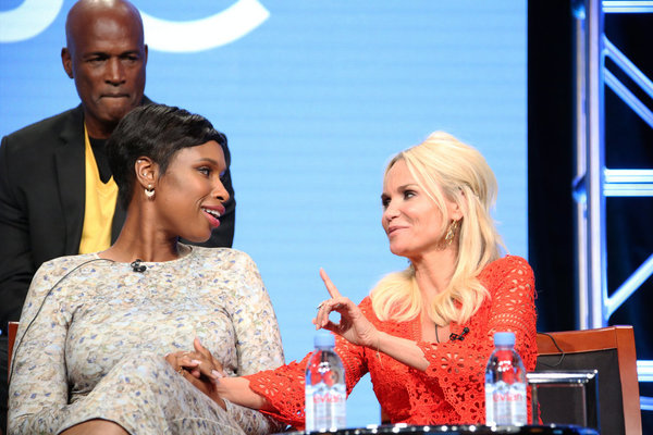 NBCUNIVERSAL EVENTS -- NBCUniversal Summer Press Tour, August 2, 2016 -- NBC''s ''Hairspray Live!'' Panel -- Pictured: (l-r) Jennifer Hudson, Kristin Chenoweth -- (Photo by: Evans Vestal Ward/NBCUniversal)