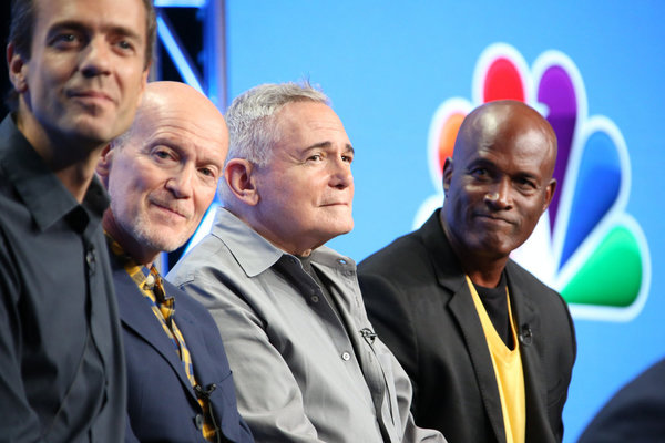 NBCUNIVERSAL EVENTS -- NBCUniversal Summer Press Tour, August 2, 2016 -- NBC''s ''Hairspray Live!'' Panel -- Pictured: (l-r) Alex Rudzinski, Live Television Director; Neil Meron, Executive Producer; Craig Zadan, Executive Director; Kenny Leon, Director --
