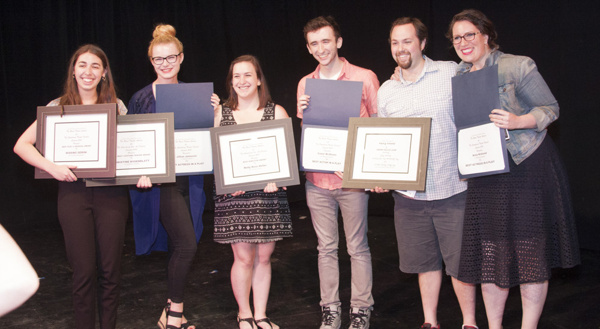 L to R: Christine Rosenblatt: Best Musical Award for MISSING GEMINI; Lizzy Miller: Be Photo