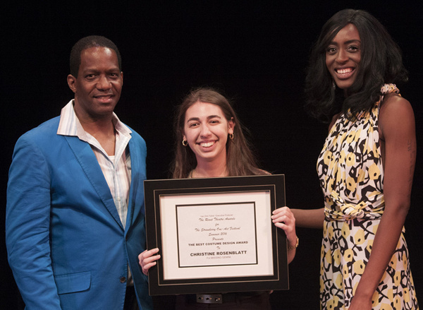 L to R: Van Dirk Fisher, Christine Rosenblatt - Best Costume Design Award, and Martin Photo