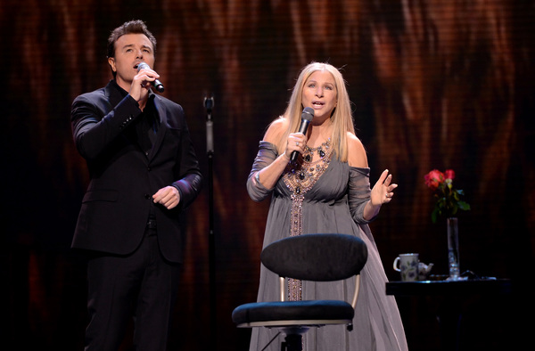 Seth MacFarlane and Barbra Streisand