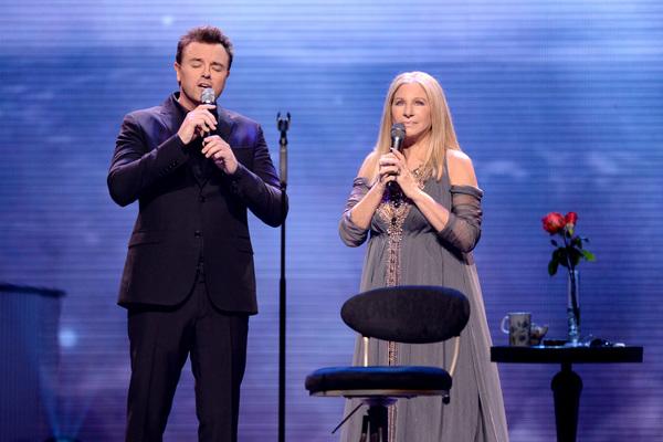Seth MacFarlane and Barbra Streisand