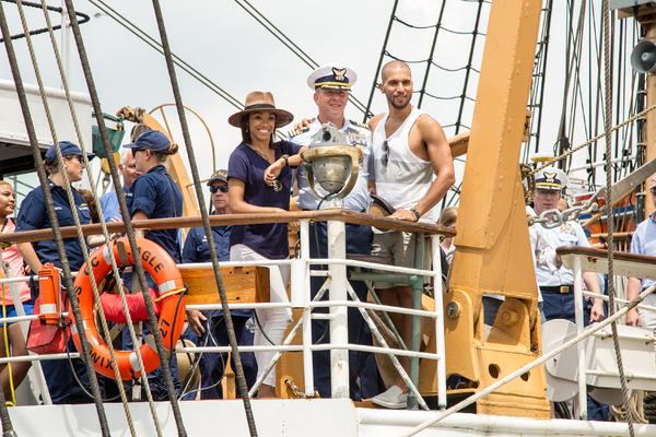 Kamille Upshaw, Captain Matt Meilstrup, Sydney James Harcourt Photo