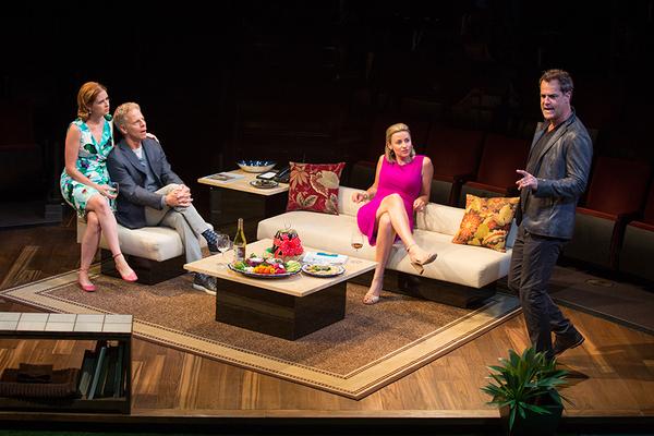 Jenna Fischer appears as Corky, Greg Germann as Norm, Alexandra Henrikson as Laura, and Josh Stamberg as Gerald