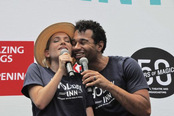 Lora Lee Gayer and Corbin Bleu