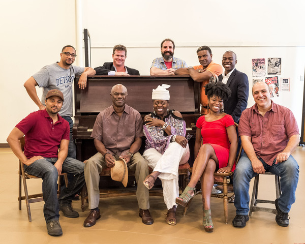 The cast for August Wilson's MA RAINEY'S BLACK BOTTOM: (front) Jason Dirden, Glynn Turman, Lillias White, Nija Okoro, Matthew Henerson; (rear) Damon Gupton, Greg Bryan, Ed Swidey, Keith David and Lamar Richardson