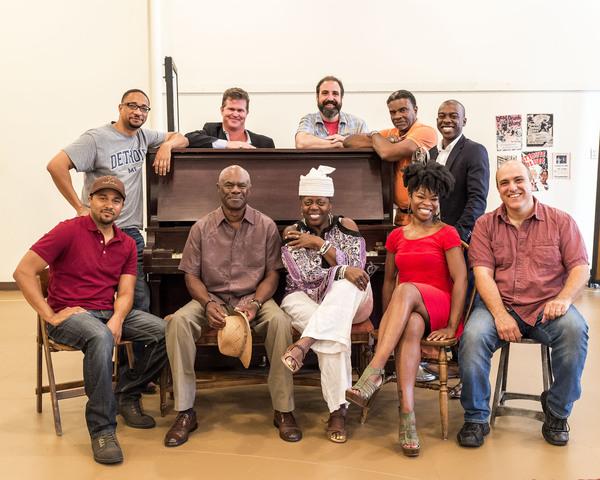 The cast for August Wilson's MA RAINEY'S BLACK BOTTOM: (front) Jason Dirden, Glynn Turman, Lillias White, Nija Okoro, Matthew Henerson; (rear) Damon Gupton, Greg Bryan, Ed Swidey, Keith David and Lamar Richardson