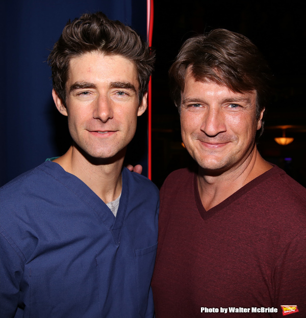 Drew Gehling and Nathan Fillion
