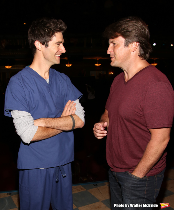 Drew Gehling and Nathan Fillion Photo