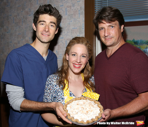Drew Gehling, Jessie Mueller and Nathan Fillion Photo
