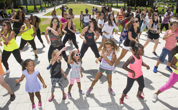 Dancers of all ages joined in the flash mob in Collins Park.