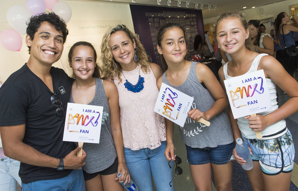 MCB dancer Andrei Chagas with dance fans participating in free sample classes.