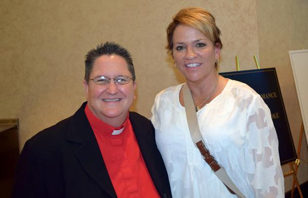 Rev. Dr. Lea Brown, Sr. Pastor MCC of the Palm Beaches; Rev. Terri Steed Pierce, Sr. Pastor of Joy MCC in Orlando