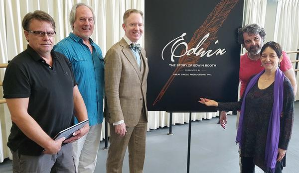 The Creative Team: Chad McArver (set designer), Hugh Murphy (music director), David Z Photo