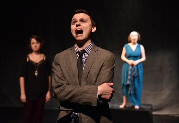 (left to right) Colleen DeRosa, Cody Dericks and Jess Thigpen in CPA Productions' DAPHNE'S SUNSET, with book and lyrics by Kevin Jaeger, music by Alex Mitchell, directed by Mark Lococo and music direction by Justin LaForte, part of Underscore Theatre