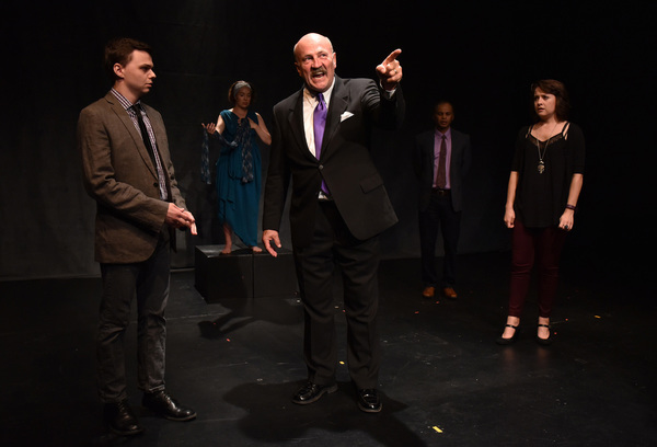 (left to right) Cody Dericks, Jess Thigpen, Gary Smilty, Gerald Richardson and Colleen DeRosa in CPA Productions' DAPHNE'S SUNSET, with book and lyrics by Kevin Jaeger, music by Alex Mitchell, directed by Mark Lococo and music direction by Justin LaFo