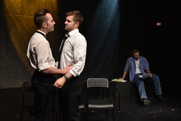 Paul Michael Thomson, Shaun Baer and Michael Owen Achenbach in PEN, music and lyrics by Leo Schwartz, book and lyrics by DC Cathro, directed by Michael Driscoll, with music direction by Aaron Benham, part of Underscore Theatre Company's 3rd annual CHICA