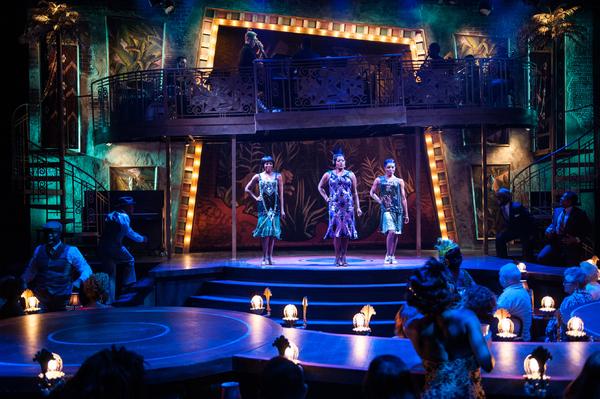 Kara-Tameika Watkins, Nova Y. Payton, Eben K. Logan and the cast of JELLY'S LAST JAM at Signature Theatre